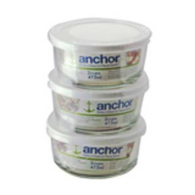 16Oz 3Pc Rnd Food Storage Set
