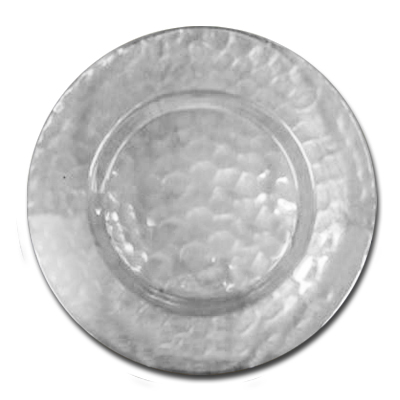 13.5 In. Glass Charger Plate W-Dots