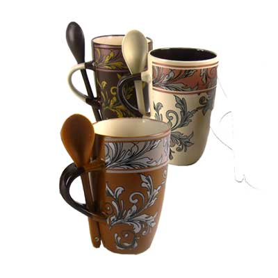 13 Oz. Coffee Mug With Spoon